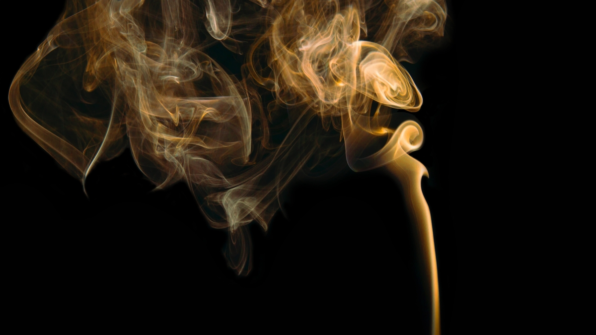 smoke in dark room